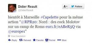 tweet anti roms de Didier Réault