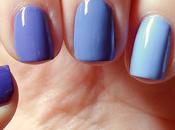 [Nail art] Ombré violet mini triangles paillettes holo