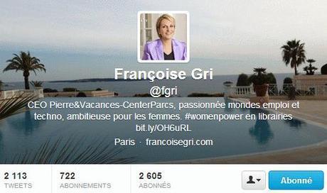 Le compte twitter de Françoise Gri
