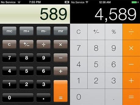 iOS-6-vs-iOS-7-Calculatrice