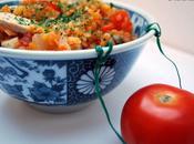 risotto lentilles corail tomate basilic