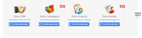 Applications Zoho synchronisées avec Google Apps