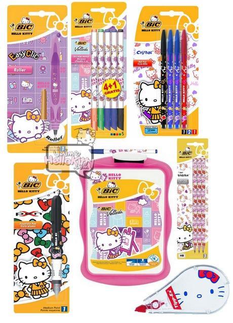 Souvent La gamme de fournitures scolaires Hello Kitty par BIC | À Découvrir AD96