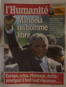 L'huma tant attendue Mandela est libre