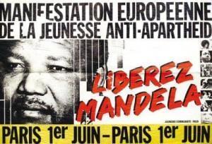 Manifestation pour la libération de Mandela