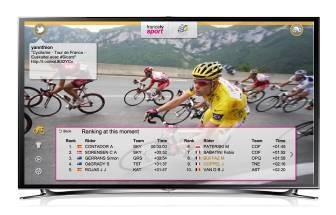 Tour de france tv augmentée