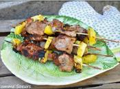 Brochettes filet mignon l'ananas