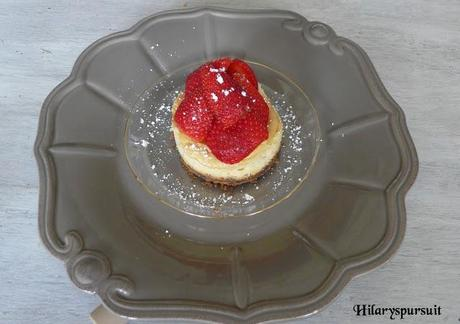 Cheesecake fraise-chantilly / Stawberry and chantilly cheesecake