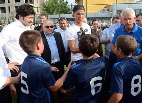 Cristiano en Géorgie pour une académie de Foot