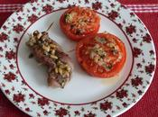Escalopes veau farcis tomates confites Stuffed veal filet candied tomatoes