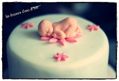 Cake design baby shower girly