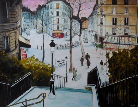 aquarelle rue utrillo