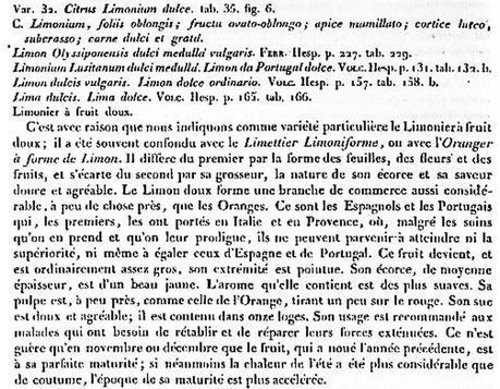 Nouv Duhamel citron doux 1819