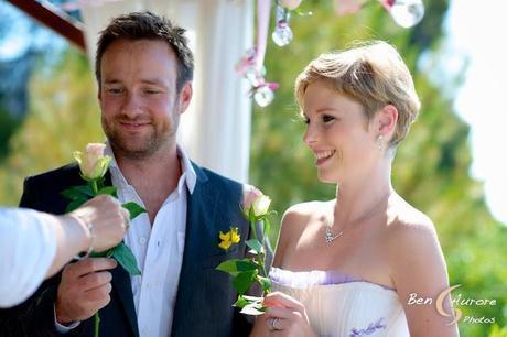 cérémonie d'engagement thème des roses