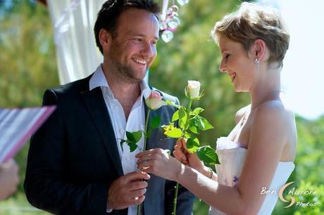 cérémonie d'engagement thème de la rose échange
