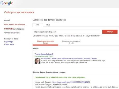 validation google plus