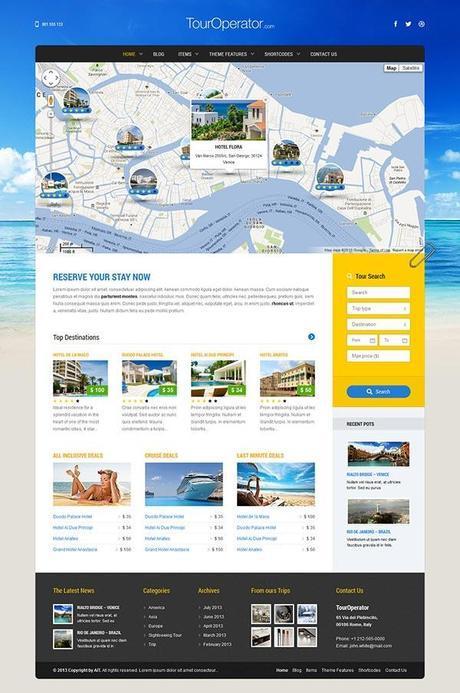 Tour Operator - Un thème WordPress pour faire un Trip Advisor
