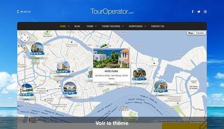 Tour Operator - Thème WordPress pour un site de booking