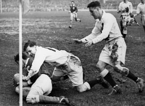 Match entre la France et l'Angleterre 1951
