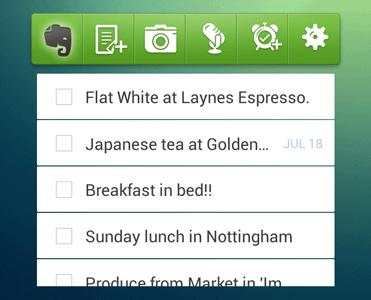 android widget #Evernote, Office Suite et #Android, le top pour vos documents !