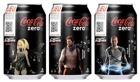 Annonce de Coca-Cola zero PlayStation All-Stars Island‏