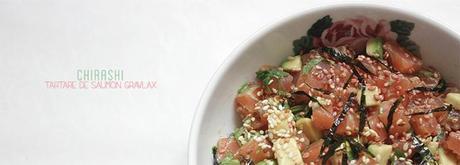 Chirashi, tartare de saumon gravlax
