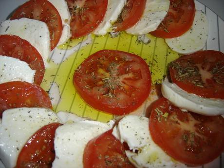 Tomates, mozzarella