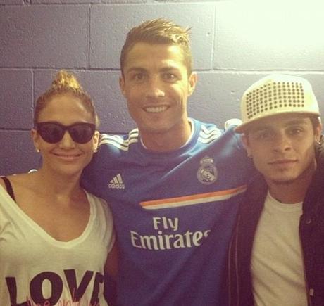 Cristiano rencontre J-LO et le Shaq