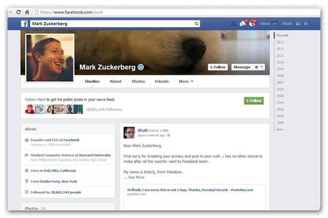 996565 730884620258747 1014743054 n Un hacker Palestinien a pirater le compte de Mark Zuckerberg