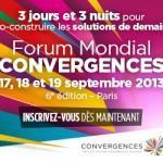 Rendez du 17 au 19 septembre au Forum Mondial Convergences!