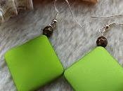 Boucles d'oreilles vertes Jinja