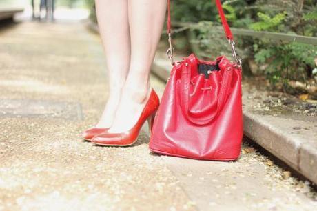 sac bourse rouge