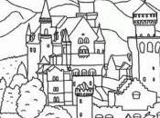 Ludwigmania: coloriez château Neuschwanstein ligne