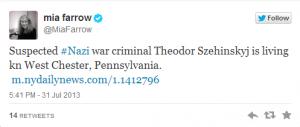 mia farrow twitter nazis