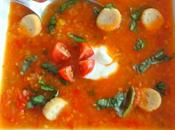 Soupe tomates cerises improvisée