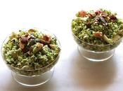 Taboulé brocoli pomme, sauce noisette-cumin