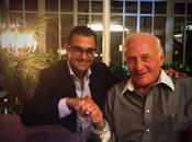 Réunion travail entre Arash Derambarsh légendaire astronaute Buzz Aldrin