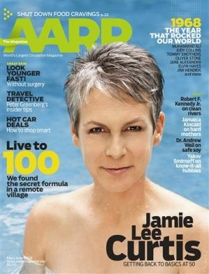 Jamie Lee Curtis en couverture d'AARP