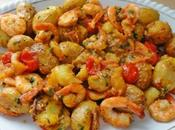 Pommes grenailles, tomates crevettes (Actifry)