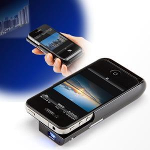 Etui IPhone qui sert de picoprojecteur