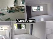 Avant après notre rénovation condo Singapour
