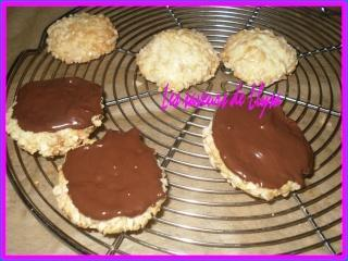 Biscuits aux amandes et ganache