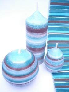 bougies bayadere bleu-marron 4