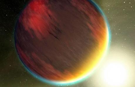 Vue d'artiste de l'exoplanète Kepler 7-b
