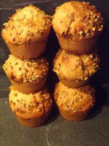 Petits muffins aux Niniches de Quiberon, miel, pain des Flandres