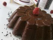 moelleux chocolat avec coulis framboises