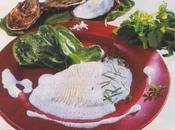 Ailerons raie bouclée, feuilles d'oseille émulsion d'huîtres parfumée mélisse