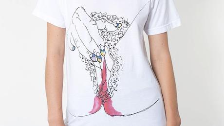 Shocking : le t-shirt American Apparel ensanglanté