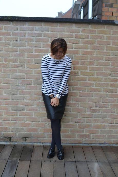 Zara leather skirt 1