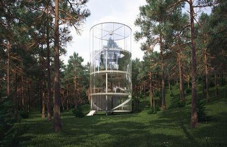 ARCHI : La canopĂŠe depuis une tour de verre